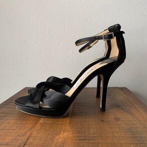 Jimmy Choo Black Satin Macy Heels Size 36 (US 6)
